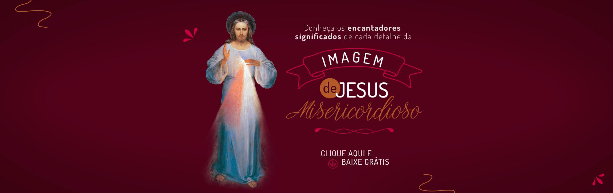 Banner Blog (Imagem de Jesus Misericordioso) - Santuário Divina Misericórdia - Curitiba:PR